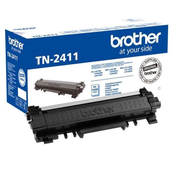 Brother oryginalny toner tn-2411 1200 stron do hl/dcp/mfc-l2xx2 czarny